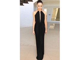 Rochie neagra cocktail sexy Anabel