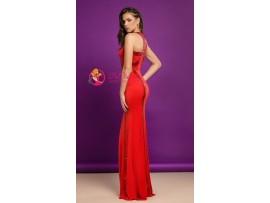 Rochie lunga rosu cu insertii de paiete 0lina