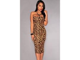 Rochie sexy animal print leopard Claudia