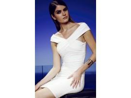 Rochie scurta still bandage alba Ilona