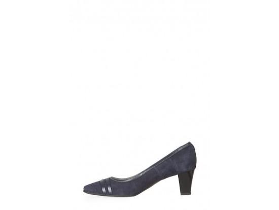 Pantofi albastrii din piele intoarsa model 1032