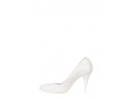 Pantofi Clarette albi din piele naturala model 40
