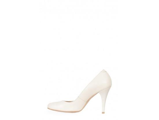 Pantofi Clarette bej din piele naturala model 40