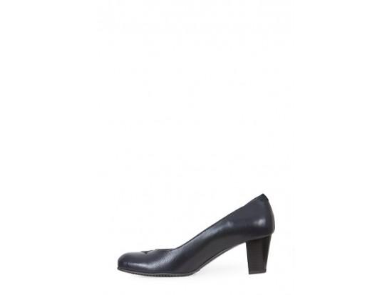 Pantofi bleumarin din piele naturala model 1102