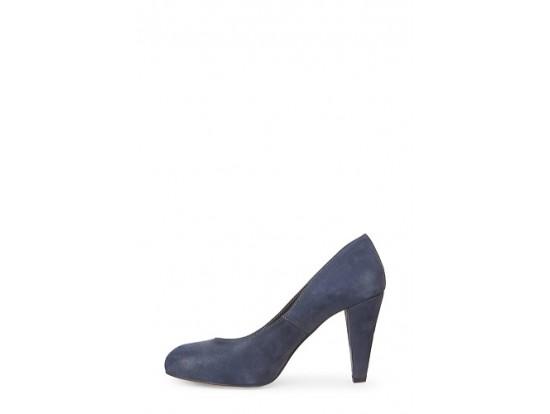 Pantofi bleumarin din piele naturala model 1310