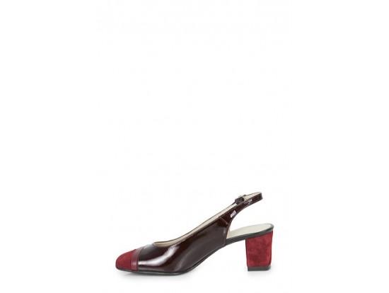 Pantofi bordo din piele naturala model PP-111