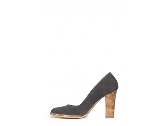 Pantofi Clarette gri din piele intoarsa model 278