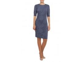 Rochie albastra cu maneci incretite model R4006