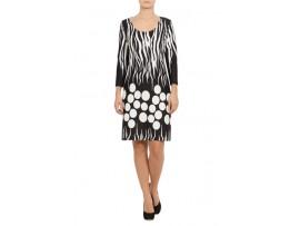 Rochie din jerse cu imprimeu zebra si buline model CN15
