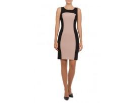 Rochie negru cu bej din stofa model VALEY