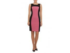 Rochie negru cu roz din stofa model VALEY