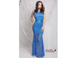 Rochie lunga din dantela bleu Bia