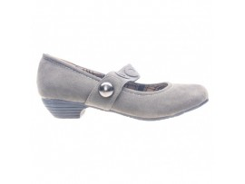 Pantofi gri cu catarama Salome