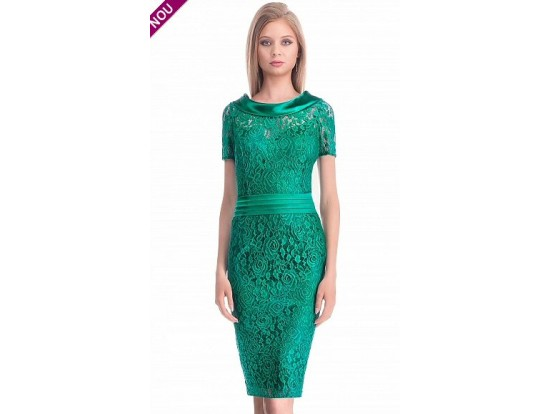 Rochie eleganta din dantela verde Corina