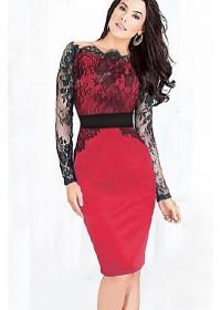 Rochii de seara ieftine: Rochie rosie eleganta Splendor Glamy